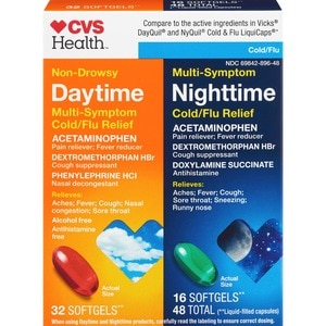 CVS Health Non-Drowsy Daytime & Multi-Symptom Cold & Flu Relief Combo Pack