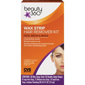CVS Wax Strip Hair Remover Kit for Face, Brow & Bikini