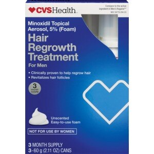 CVS Hair Regrowth Treatment For Men Easy to Use Foam