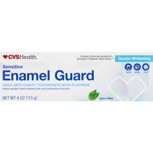 CVS Enamel Guard Daily Anti-Cavity Toothpaste with Fluoride, Alpine Mint