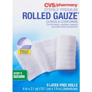 CVS Sterile Premium Latex-Free Rolled Gauze 4 in x 2.1 yd
