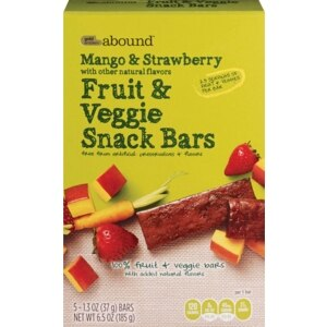 Gold Emblem Abound Mango & Strawberry Fruit & Veggie Bars, 5 Bars