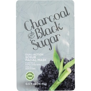 Charcoal And Black Sugar Dual Action Scrub Facial Mask