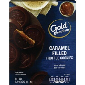 CVS Gold Emblem Milk Chocolate Topped & Caramel Filled Truffle Cookies