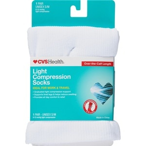 715d91b21a CVS Health Light Compression Socks Over-The-Calf Unisex, 1 Pair ...