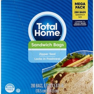 Total Home Sandwich Bags, 280CT