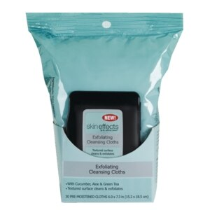 Skin Effects Exfoliating Cleansing Cloths, 30CT