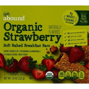 Gold Emblem Abound Organic Strawberry Soft Baked Breakfast Bars
