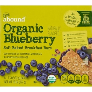 Gold Emblem Abound Organic Blueberry Soft Baked Breakfast Bars