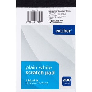 Caliber Chunky Scratch Pad, White Paper