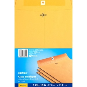 Caliber Clasp Envelopes 9 in x 12 in