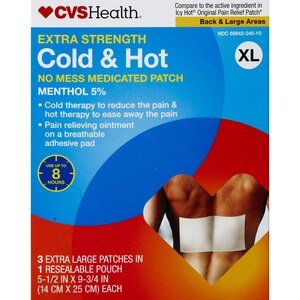 CVS Health Extra Strength Cold & Hot Medicated Patches 3CT, X-Large
