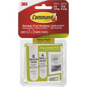 3M Picture Hanging Strips Combo Pack
