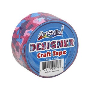 Art Skills Designer Craft Tape, Pink Camo