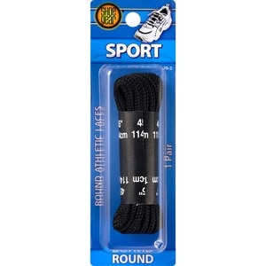 Shoe Gear Round Athletic Laces 45 Inches Black