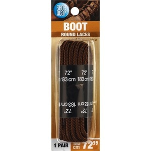 Shoe Gear Nylon Boot Laces 72 Inches Brown/Black