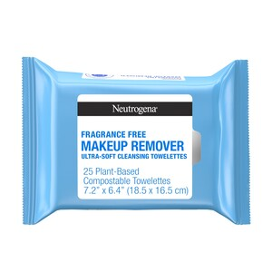 Neutrogena Cleansing Makeup Remover Cleansing Towelettes, Fragrance Free, 25/Pack