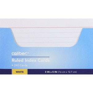 Caliber Ruled Index Cards White