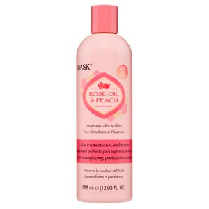 HASK Rose Oil and Peach Color Protection Conditioner, 12 OZ