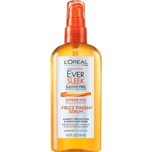 L'Oreal Paris EverSleek Sulfate Free Frizz Finish Oil-In Serum with Humidity Protection and Weightless Shine, 4 OZ