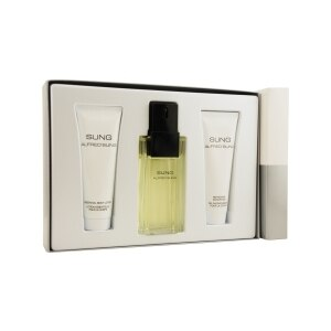 Sung Set by Alfred Sung Eau de Toilette Spray 3.4 OZ & Body Lotion 2.5 OZ & Shower Gel 2.5 OZ