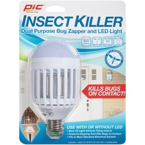 PIC Insect Killer Dual Purpose Bug Zapper and LED Light Bulb