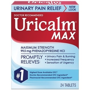 Uricalm Maximum Strength Urinary Pain Relief Tablets, 24 CT