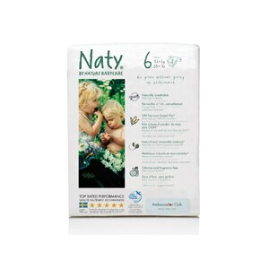 Naty by Nature Babycare Eco Diapers, Size 6