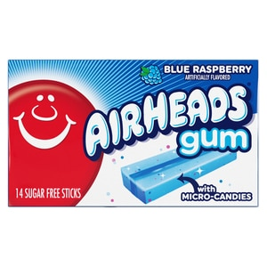 AirHeads Blue Raspberry Gum with Micro-Candies12CT