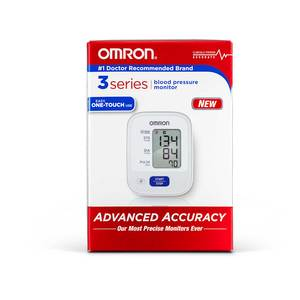 Omron 3 Series One Touch Blood Pressure Monitor With D-Ring Cuff, BP 710N