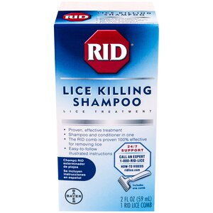 RID Lice Killing Shampoo, Includes 1 Nit Comb and 1 Bottle, 2 OZ