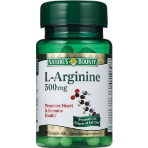 Nature's Bounty L-Arginine 500 Mg Capsules