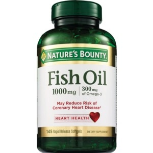 Nature's Bounty Cholesterol Free Fish Oil Softgels 1000mg