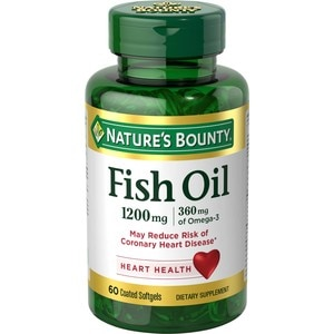 Nature's Bounty Odorless Fish Oil Softgels 1200mg