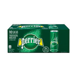 Perrier Sparkling Natural Mineral Water Slim Can 8.45 OZ, 10CT