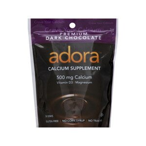 Adora Calcium Supplement Disks Dark Chocolate