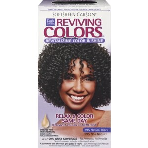 Dark & Lovely Reviving Colors Semi-Permanent Haircolor Natural Black 395