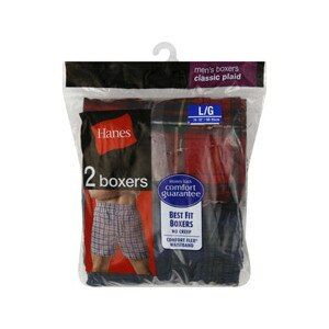 Hanes Men's Boxers Classic Plaid L/G (38-40 inches)