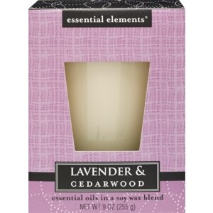 Essential Elements Candle, Lavender & Cedarwood