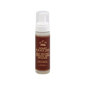 Nubian Heritage Honey & Black Seed Heat Protect Keratin Wrap Mousse