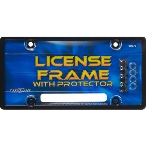 Custom Accessories Black License Frame with Protector