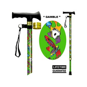 Main Cane™  Designer Cane Adjustable T-Handle Cane, Gamble