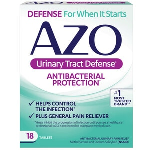 AZO Urinary Tract Defense Antibacterial Plus Urinary Pain Relief Tablets, 24CT