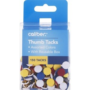A&W Thumb Tacks Vinyl Coated Assorted Colors