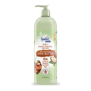 Suave Kids 3 in 1 Shampoo, Conditioner, Body Wash with Shea Butter for Tear-Free Moisture, 20 OZ