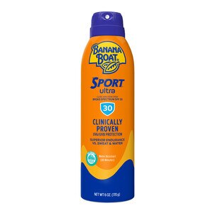 Banana Boat Clear UltraMist Sport Performance Spray Sunscreen Broad Spectrum SPF 30