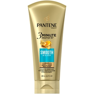 Pantene Pro-V Smooth & Sleek 3 Minute Miracle Daily Conditioner, 6.0 OZ, 1CT