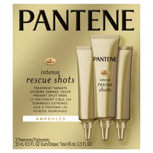 Pantene Pro-V Intense Rescue Shots Hair Ampoules for Intensive Repair, 0.5 OZ, 3CT