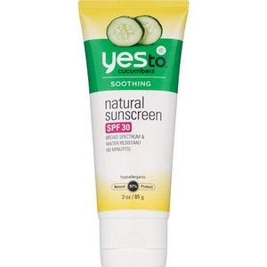 Yes To Cucumbers Soothing Natural Sunscreen SPF 30, 3 OZ