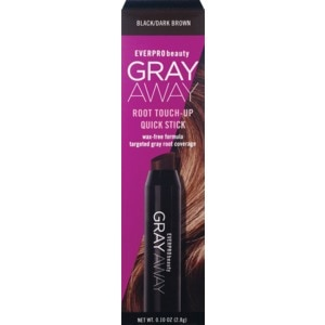 Everpro Beauty Gray Away Root Touch-up Quick Stick, Black/Dark Brown